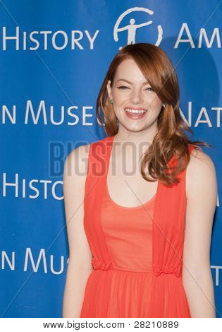 NEW YORK - NOV 10: Actress Emma Stone attends the American Museum of Natural History's  2011 Gala on November 10, 2011 in New York City, NY.