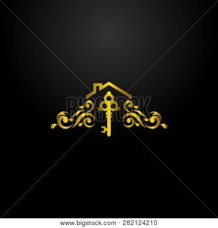 Luxury Real Estate Agent Logo, Classic And Elegant Logo Designs For Industry And Business, Interior
