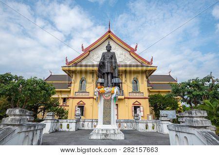 Nan, Thailand - October 11, 2018: The Building Of Nan National Museum, Nai Wiang District, Amphoe Mu