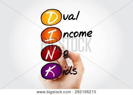 Dink - Dual Income No Kids, Acronym With Marker , Business Concept