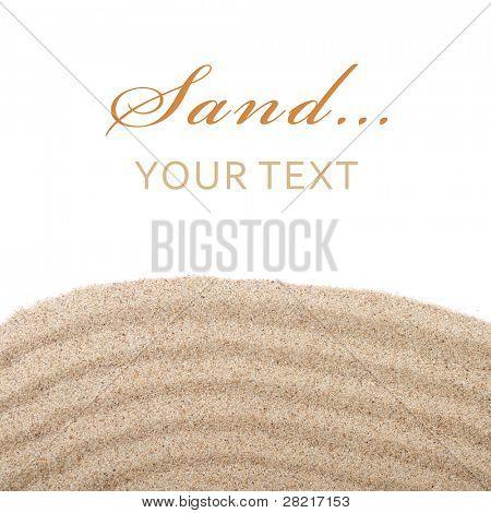 Písek rozptyl izolovaných na bílém pozadí