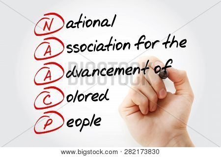 Naacp - National Association For The Advancement Of Colored People Acronym With Marker, Concept Back