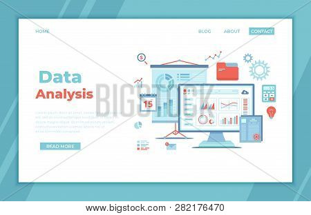 Data Analysis, Accounting, Analytics, Report, Research, Planning. Charts, Diagrams, Graphs On The Mo