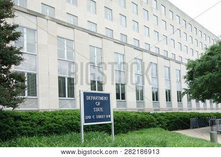 WASHINGTON DC,/ United States - 30 May 2016: United States Department of State Headquarters in Washington, DC.