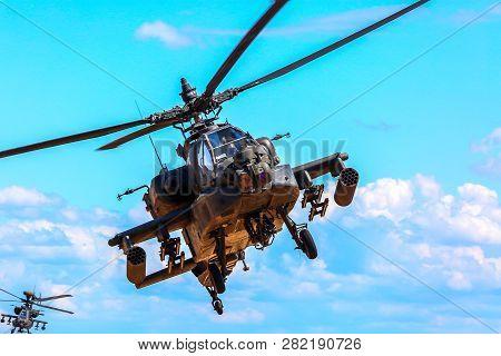 Uh-60 Blackhawk And Apache. International Military Training