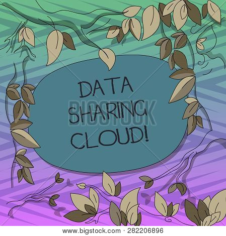 Conceptual Hand Writing Showing Data Sharing Cloud. Business Photo Text Using Internet Technologies