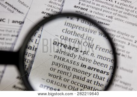 Arrears Word Or Phrase In A Dictionary