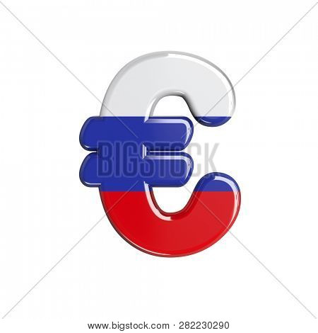 Russian euro currency sign isolated on white background. This font collection is well-suited for various projects related but not limited to Russia, politics, economics, business...