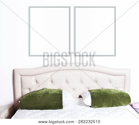8x10 16x20 Two Thin Frames Mockup On Light Background