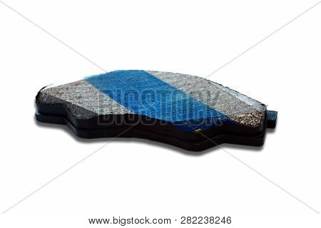 The Car Brake Pads On White Background Isolated