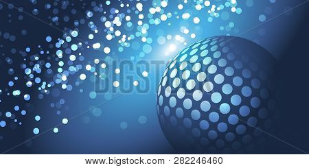 Abstract Bright Blue Sparkling Globe Design Vector