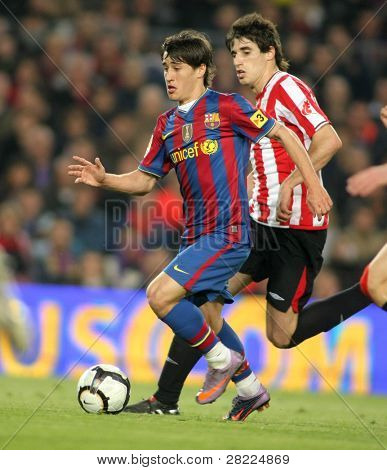 BARCELONA- APR 3: Bojan Krkic of Barcelona in action during a Spanish League match between FC Barcelona and Athletic Bilbao at the Nou Camp Stadium on April 3, 2010 in Barcelona, Spain