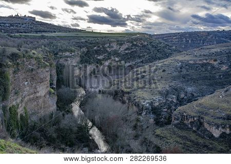 View Hoces Of The Duraton From The Sanctuary Of The Virgin Of The Rock, In Village Of Sepulveda