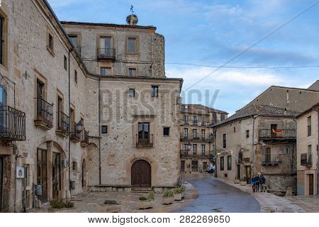 Jail And One Street  In Old Town In The Village Of Sepulveda, Segovia