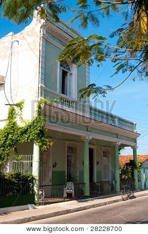 Typical house in Cienfuegos, Cuba