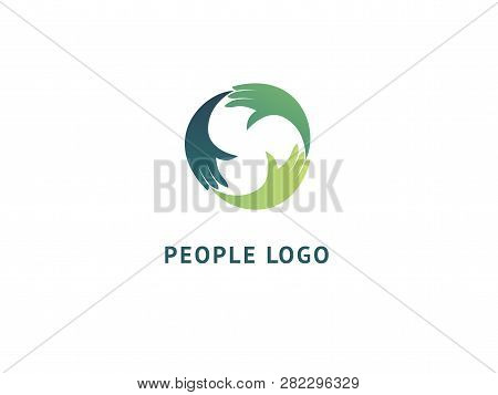 Abstract Hands Logo Icon Vector Design. Health, Help, Support Center, Care, Vector Logo. Vector Illu