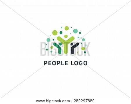Abstract Community Logo Icon Vector Design. Creative Agency, Social Work, Teamwork, Business, Advert