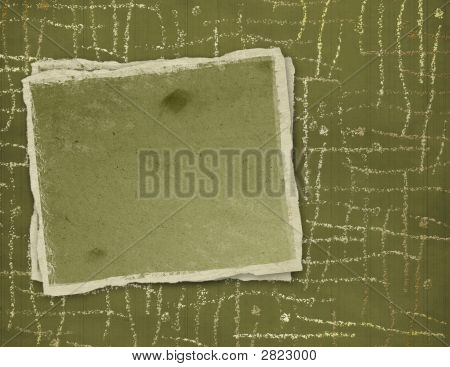Grunge Frame For The Invitation To An Abstract Background