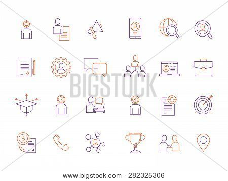 Head Hunting Symbols. Staff Employment Business Super Workers Top Managers Workforce Development Vec