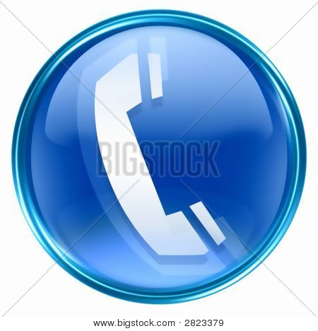 Синий значок телефона