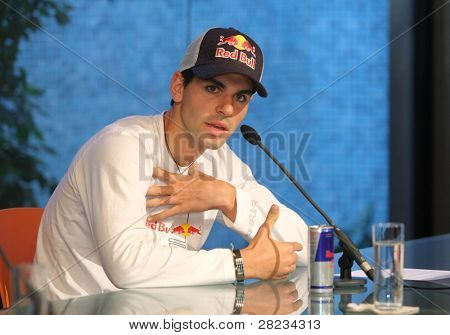 Barcelona – JULY 21: Formula1 Toro Rosso race driver Jaime Alguersuari in his presentation in Colet Museum on July 21, 2009 in Barcelona, Spain.