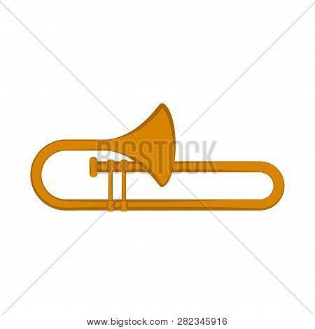 Isolated Trombone Icon. Musical Instrument. Vector Illustration Design