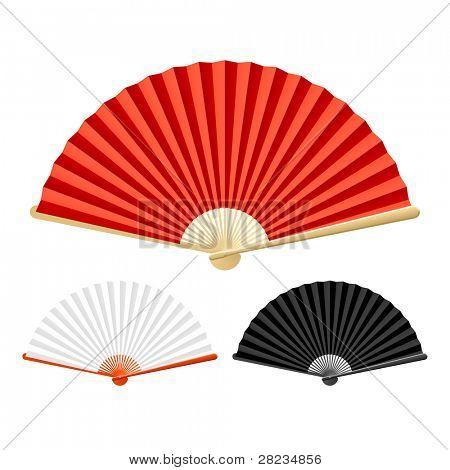 Folding fan. Vector.