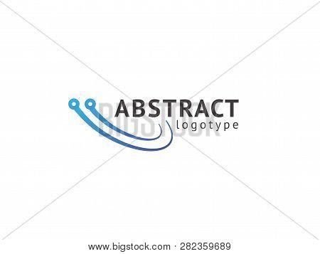 Logo Design Abstract Digital Technology Vector Template. Illustration Design Of Logotype Business We