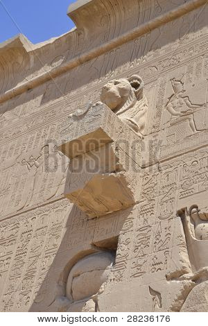 External Wall Of An Egyptian Temple