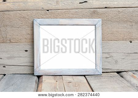 8x10 18x20 Wooden Horizontal Frame Mockup, Realistic Rustic Rough Wooden Frame, Styled Mockup On Woo
