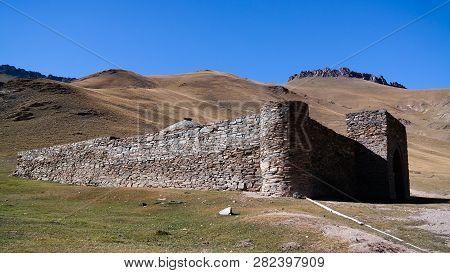 Tash Rabat Caravanserai In Tian Shan Mountain , Naryn Province, Kyrgyzstan