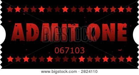 Grunge Vector Movie Ticket