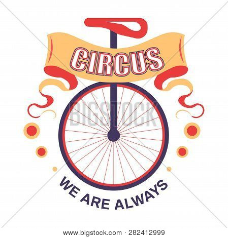 Circus Show Isolated Icon Unicycle Performance Requisite