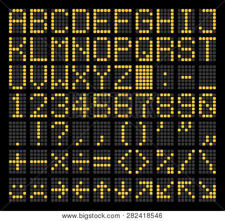Led Dot Matrix Panel. Letters, Numbers, Punctuation Marks, Arithmetic Signs, Basic Emoticons And Nav