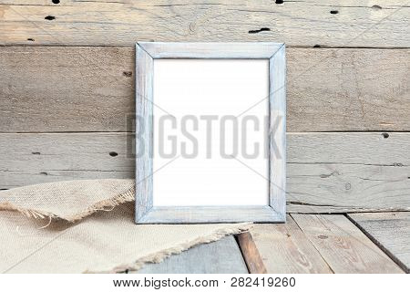 8x10 16x20 Vertical Wood Frame Mockup, Rustic Frame, Wood Background, Picture Frame