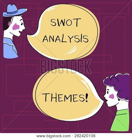 Text Sign Showing Swot Analysis Themes. Conceptual Photo Subject Matter To Undergo Comprehensive Ana