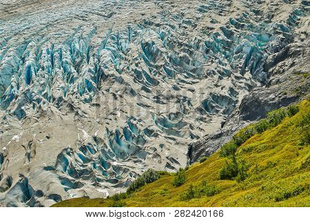 Close-up Of Exit Glacier In Kenai Fjords National Park, Alaska