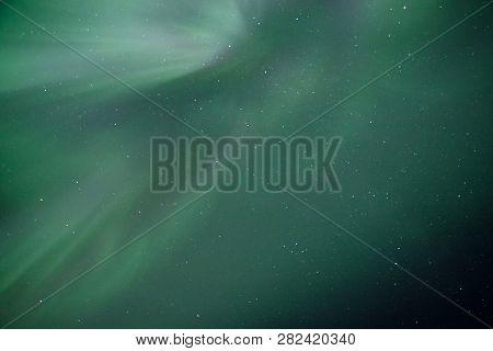 Sky Ornaments From Aurora Borealis Phenomenon In Alaska