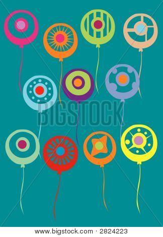 Vector Abstract Balloons