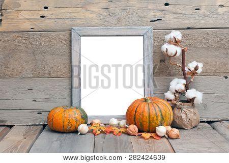8x10 Vertical Frame Mockup, Halloween Styled Frame, Rustic Wooden Mockup