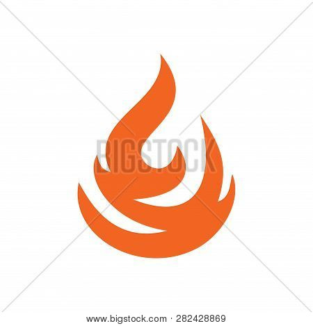 Flame Orange Icon On White Background For Graphic And Web Design, Modern Simple Vector Sign. Interne