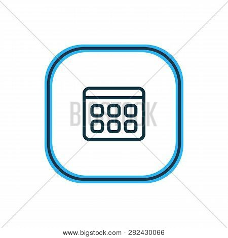 illustration of calendar icon line. Beautiful bureau element also can be used as timetable icon element. poster
