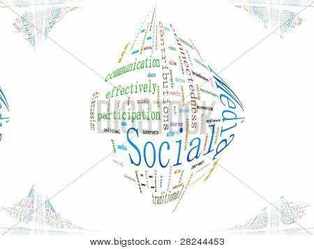 Redes sociales relacionadas con texto