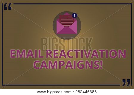 Writing Note Showing Email Reactivation Campaigns. Business Photo Showcasing Triggered Email For Sle