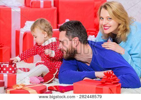 Family Celebrate Anniversary. Valentines Day. Lovely Family Celebrate Valentines Day. Happy Parents.