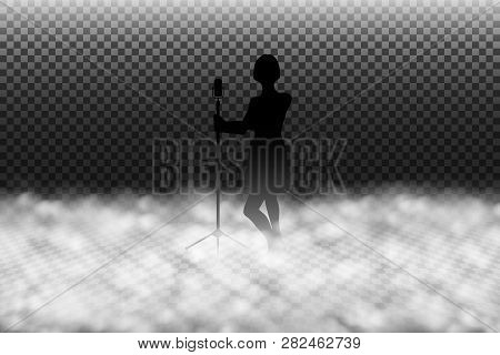 Fog Machine Effect Vector Illustration, Scenic Smoke Or Stage Fog Realistic Special Effect Isolated