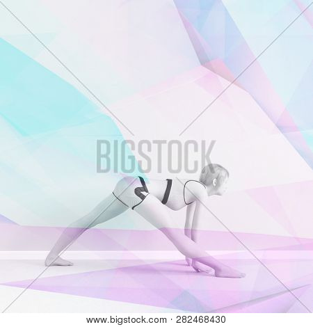 Holistic Fitness Training Regiment for Healthy Lifestyle 3D Render poster