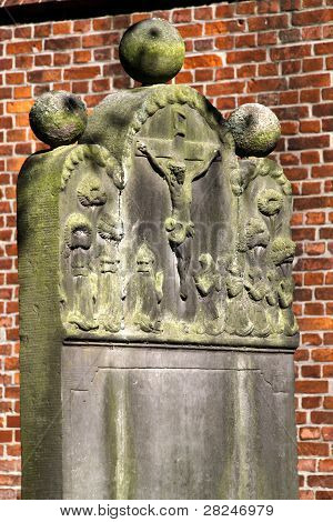 Cemetery At The Church In Cuxhaven-doese