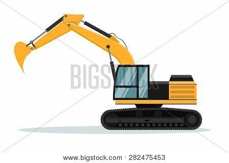 Caterpillar Excavator Vector Design. Heavy Machinery, Design Of Heavy Machinery Used In Mining