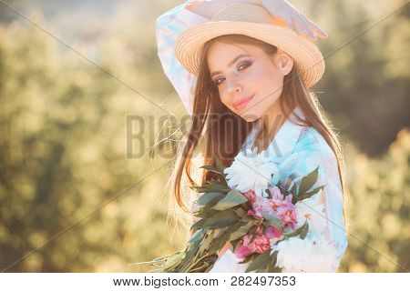 Summer Day. Natural Beauty And Spa Therapy. Spring Woman. Springtime And Vacation. Summer Girl With